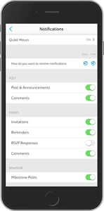 Bloomz Notification Settings