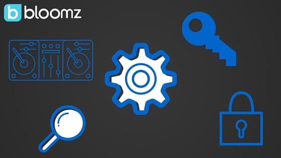 Bloomz Settings Controls